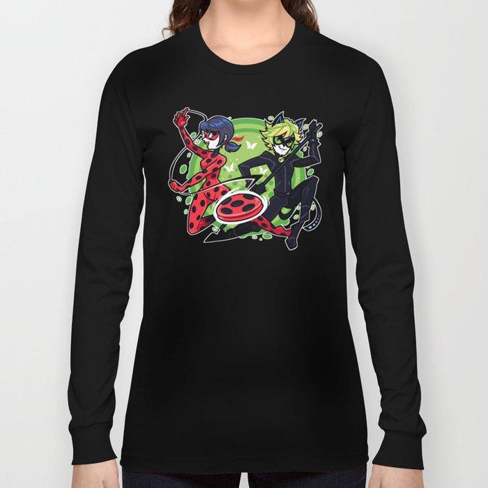 825caddf7164a ... Accessories Vetement Enfant Fille Baby Shirt Girl Tee Shirts.  Miraculous Ladybug T-Shirt. Miraculous Ladybug and Cat Noir Long Sleeve T- shirt