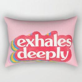 Exhales Rectangular Pillow