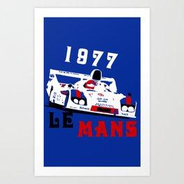 1977 Martini Porsche 917 24 Hours of Le Mans Art Print