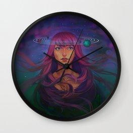 Worlds Revolve Around Her Wall Clock