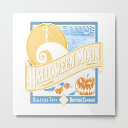 Halloween Moon Metal Print