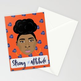 Strong doesn't equal attitude Stationery Cards