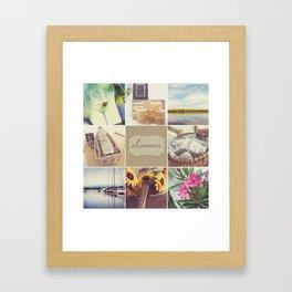 Summer Beauty - Vignette Framed Art Print