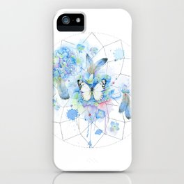 Dreamcatcher No. 1 - Butterfly Illustration iPhone Case