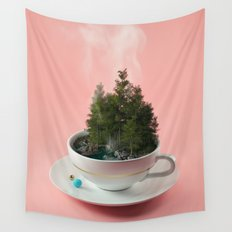 Hot cup of tree Wall Tapestry