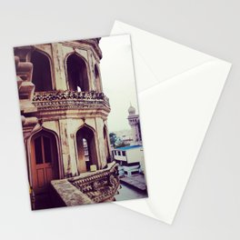 Vintage asian architecture - Streets of India Stationery Cards