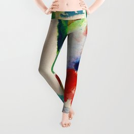 August Macke - Picnic On The Beach - Digital Remastered Edition Leggings