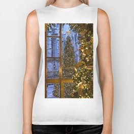 Beautifu christmas tree Biker Tank