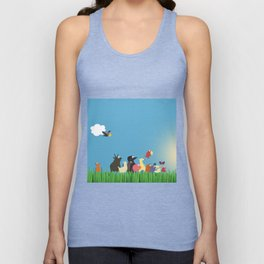 What's going on the farm? Kids collection Unisex Tank Top