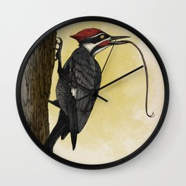 Pileated Woodlicker Wall Clock