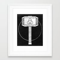 thor Framed Art Prints featuring THOR! by John Medbury (LAZY J Studios)