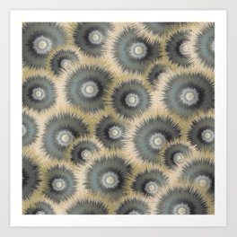 Spiked wheels Art Print