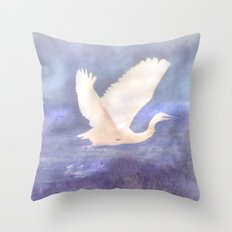 White bird Throw Pillow