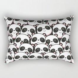 I Love Panda Rectangular Pillow