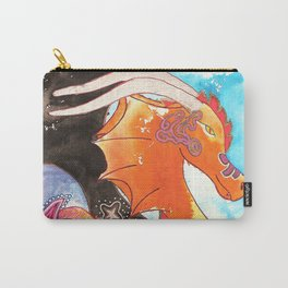 Fantastic animal - My new friend Drago - dragon - by LiliFlore Carry-All Pouch