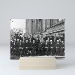 1927 Solvay Conference Group Portrait Mini Art Print