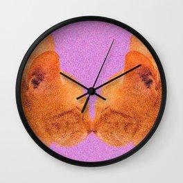 Love Valentine Cute Cats #decor #society6 #buyart Wall Clock