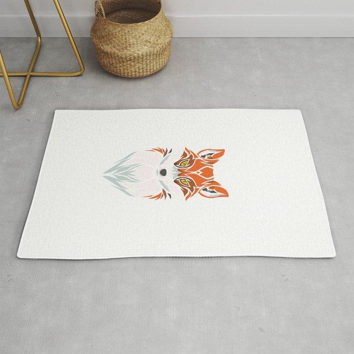 Tribal Fox - Wild Animal Art - Exotic Animals Rug
