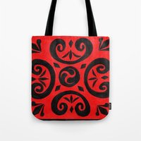 notebook Tote Bags featuring Untitled (Cover Design for Notebook) by Crystal Granlund