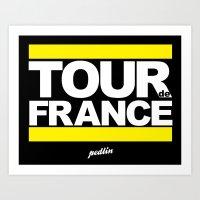 tour de france Art Prints featuring Tour de France by Pedlin