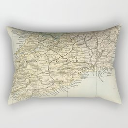 Vintage and Retro Map of Southern Ireland Rectangular Pillow