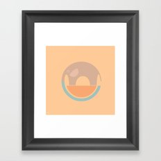 Elephant Circle of Life, Fading Elephants, Nursery Wall Art, Art for Nursery, Nursery Decor Framed Art Print