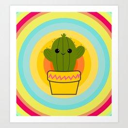 Cute cactus Art Print