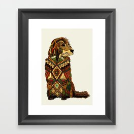 Golden Retriever ivory Framed Art Print