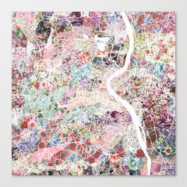 Bordeaux map, france Canvas Print