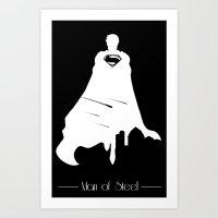 man of steel Art Prints featuring Man of Steel  by BlacksSideshow