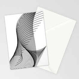 """Script Collection"" - Minimal Letter I Print Stationery Cards"