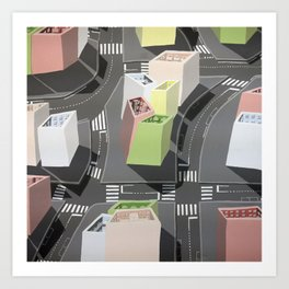 Inside-out - urban living Art Print