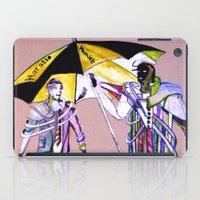 hamlet iPad Cases featuring hamlet &  horatio go to American by seb mcnulty