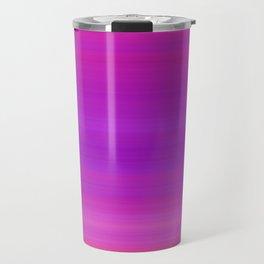 Orange & Purple Stripes   Bright ombre gradient pattern Travel Mug
