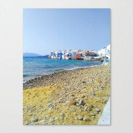 Little Venice Mykonos Canvas Print