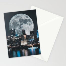 PGH #6 // Super Moon over Pittsburgh Stationery Cards