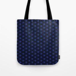 Flower of Life Pattern – Blue on Black Tote Bag