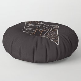 Earth Air Fire & Water Floor Pillow