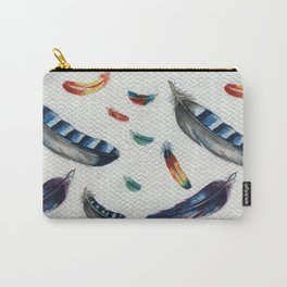 Feather blue Jay Carry-All Pouch