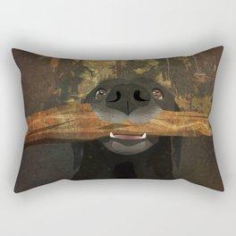 Playful Labrador Rectangular Pillow
