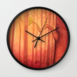 fire in the trees Wall Clock