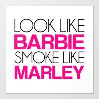 barbie Canvas Prints featuring Barbie by I Love Decor