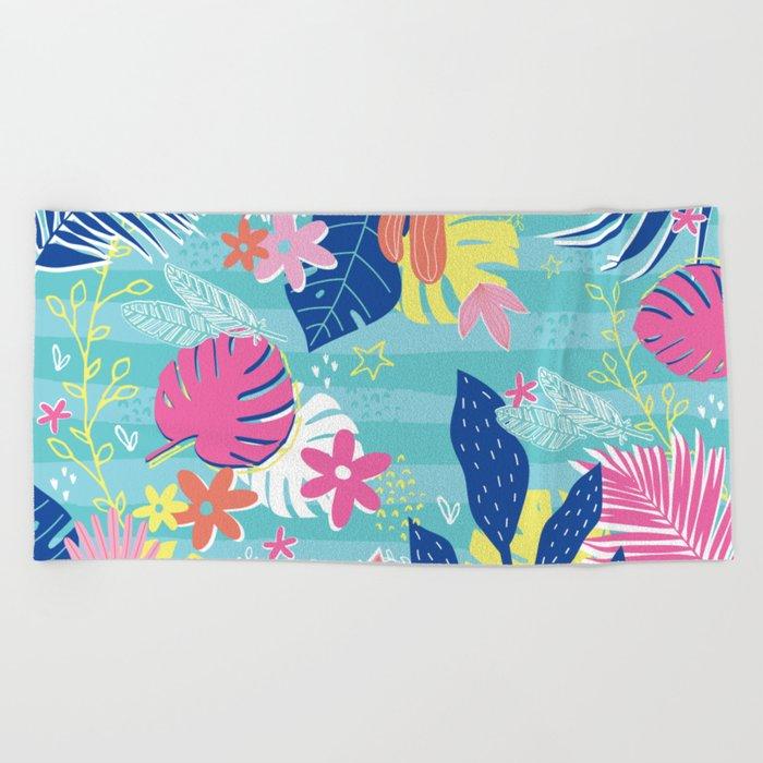 Tropical Vibes Beach Towel