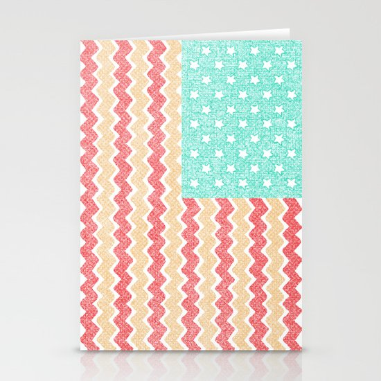 Zig Zag Flag. Stationery Cards
