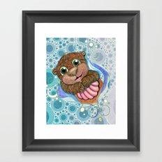 Otterly Adorbs Framed Art Print