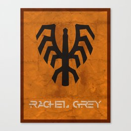 Minimalist Rachel Grey Canvas Print