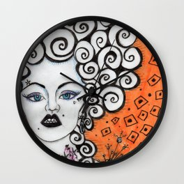 Countess Crabapple by Nefertara Wall Clock