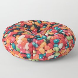 Vintage Jelly Bean Real Candy Pattern Floor Pillow
