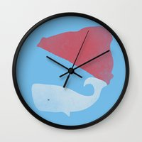 steve zissou Wall Clocks featuring Steve Zissou by Keejus
