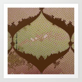 BROWN IZNIKY Art Print